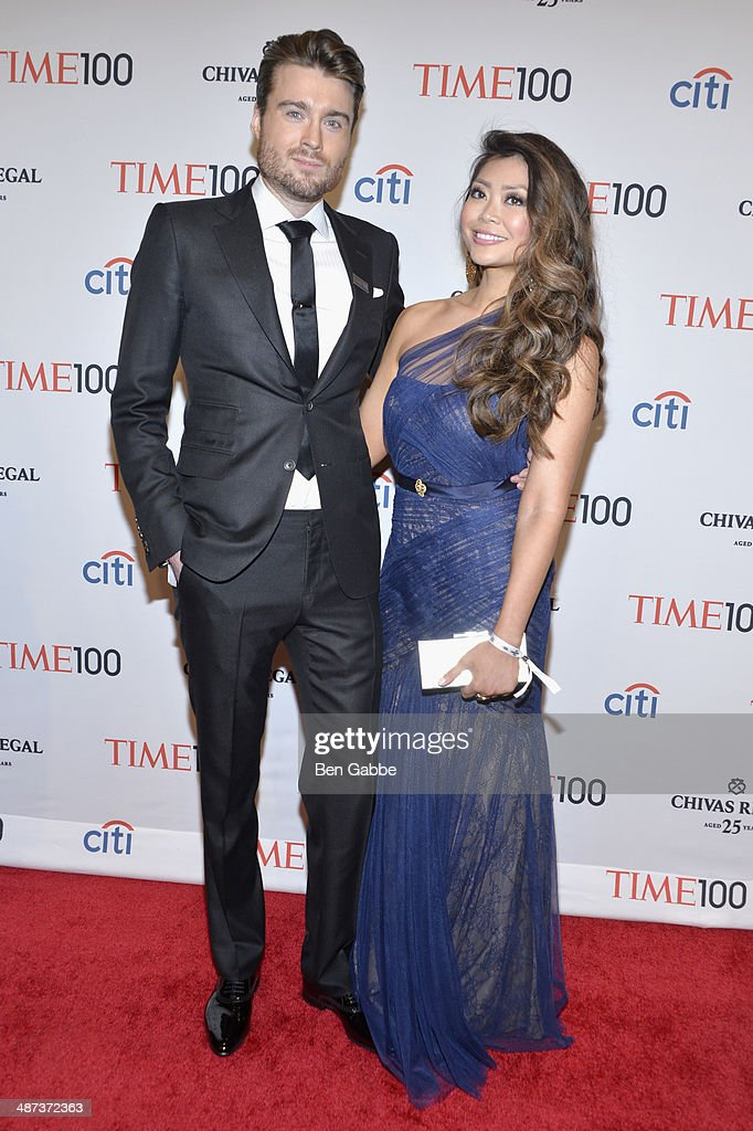 Peter Cashmore and guest attend the TIME 100 Gala, TIME's 100 most influential people in the world, at Jazz at Lincoln Center on April 29, 2014 in New York City.
