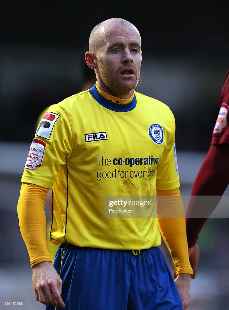 Peter Cavanagh of Rochdale in action during the npower League Two match between Northampton Town and Rochdale at Sixfields Stadium on February 9, 2013 in Northampton, England.