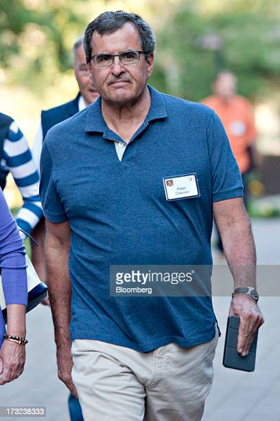 Peter Chernin former president of News Corp arrives for a morning session during the Allen Co Media and Technology Conference in Sun Valley Idaho US...