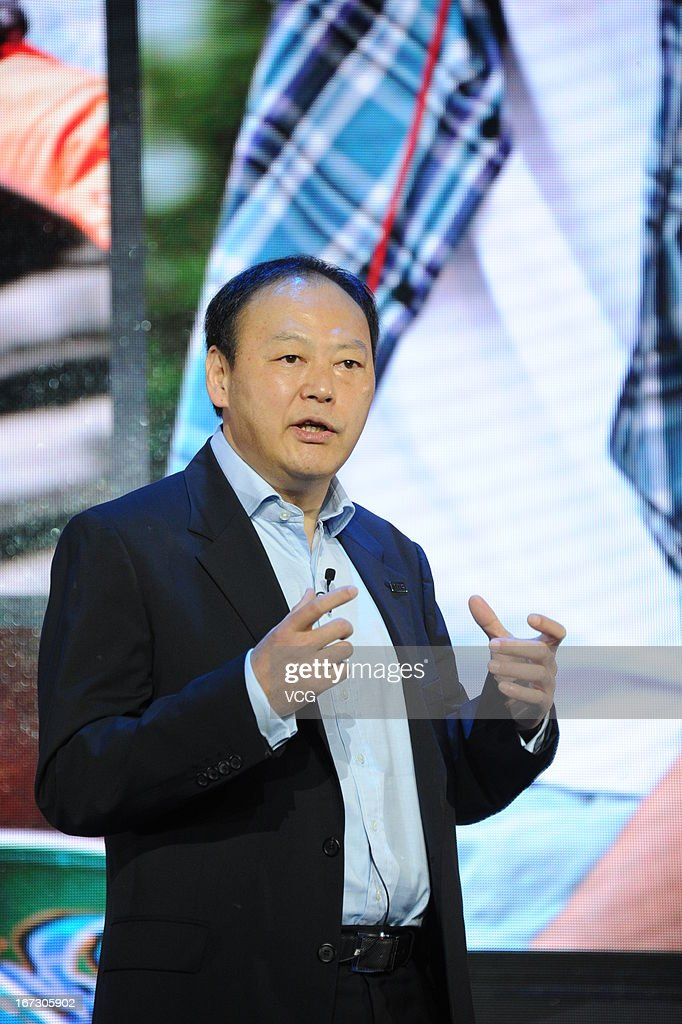 Peter Chou, Chief Executive Officer of HTC Corporation, speaks during the launch of the HTC One smartphone at China World Hotel on April 24, 2013 in Beijing, China. HTC began selling the new One smartphone in Mainland China today.