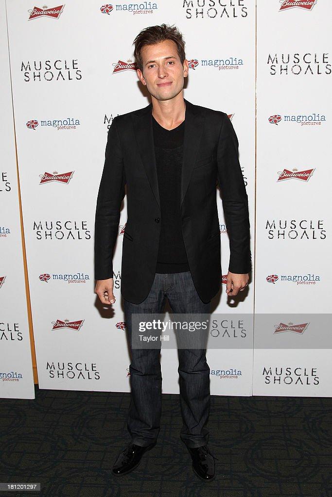 Peter Cincotti attends the 'Muscle Shoals' New York screening at Landmark Sunshine Cinemas on September 19, 2013 in New York City.
