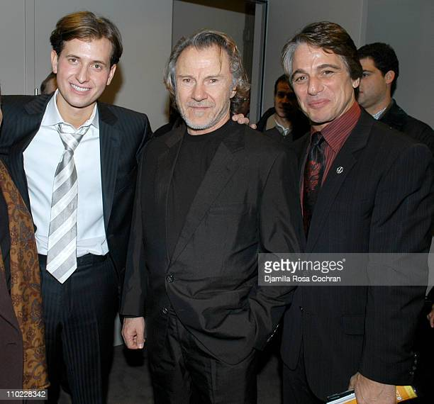 Peter Cincotti Harvey Keitel and Tony Danza during Peter Cincotti Performance November 11 2004 at Rose Hall in New York City New York United States