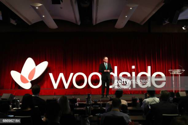 Peter Coleman chief executive officer of Woodside Petroleum Ltd speaks in Sydney Australia on Tuesday May 23 2017 Woodside Petroleum's Kitimat...