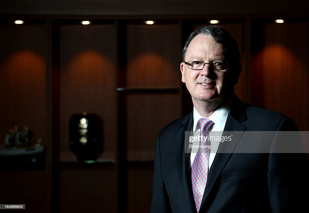 Peter Coleman chief executive officer of Woodside Petroleum Ltd poses for a portrait at the 22nd World Energy Congress in Daegu South Korea on...