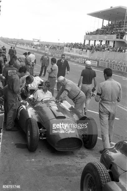 Peter Collins Ferrari D50 Grand Prix of France Reims 01 July 1956