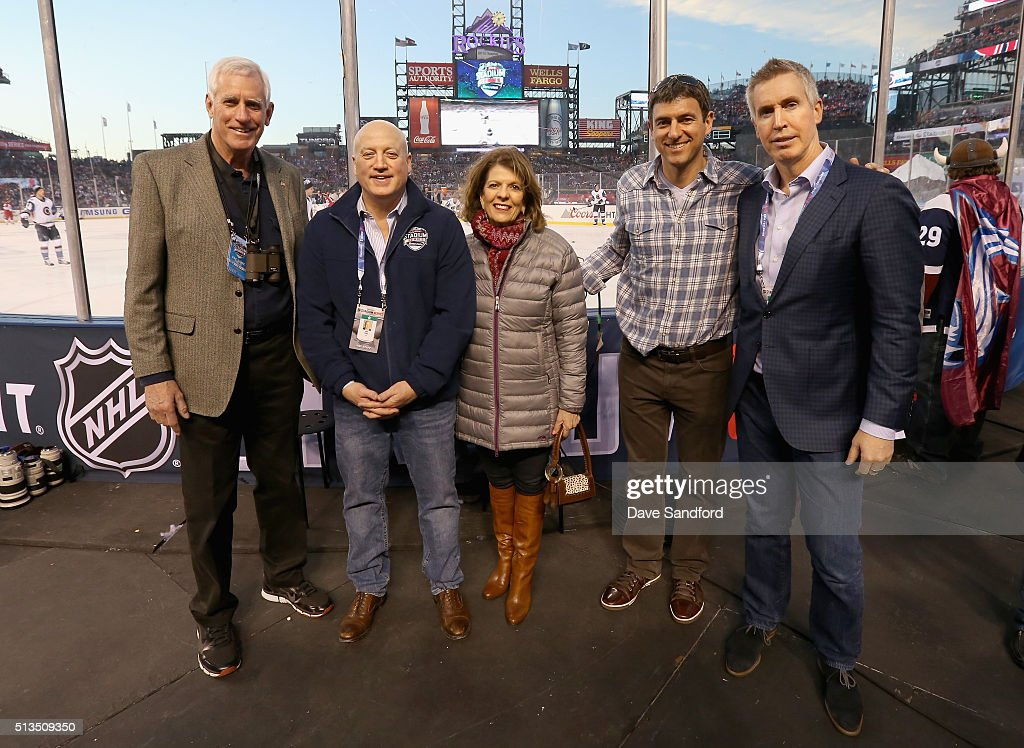 Peter Coors Deputy Commissioner of the NHL Bill Daly Marilyn Coors Director Sports Entertainment Marketing at MillerCoors Adam Dettman and NHL Vice...