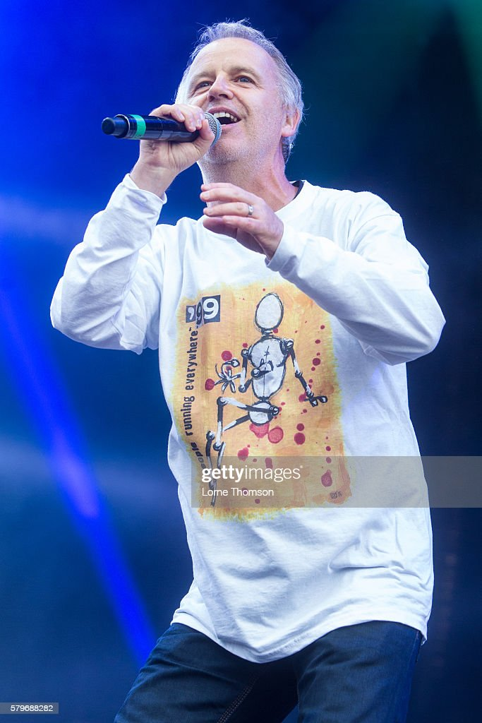 Peter Coyle performs with the British Electric Foundation on day three of Rewind Scotland at Scone Palace on July 24 2016 in Perth Scotland