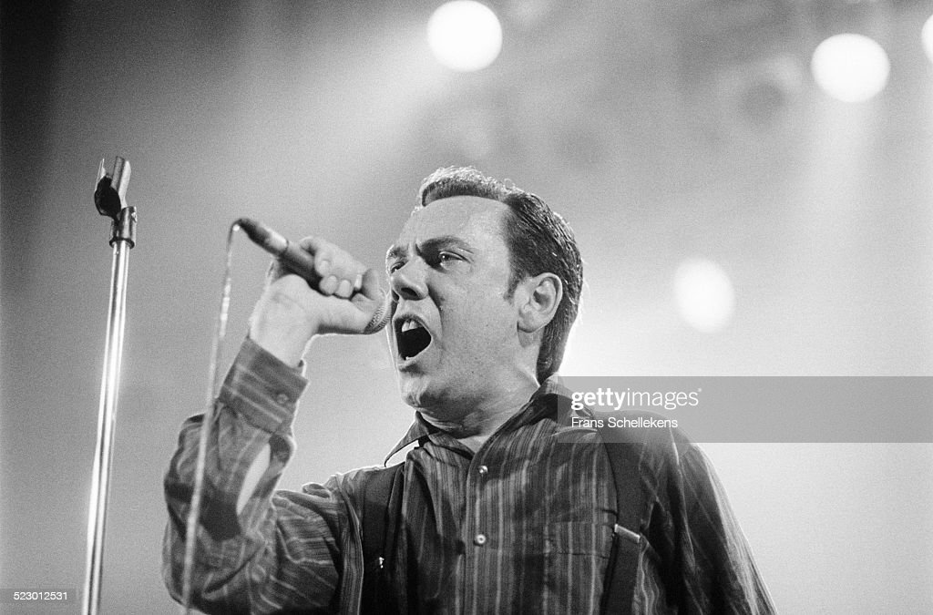 Peter Coyne vocal performs with the Godfathers at the Paradiso on November 4th 1991 in Amsterdam the Netherlands