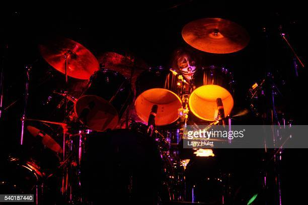 Peter Criss is performing with 'Kiss' at the Cow Palace in Daly City CA on August 16 1977