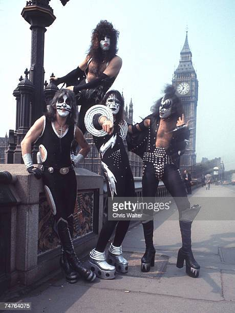 Peter Criss Paul Stanley Ace Frehley and Gene Simmons of KISS in London 1976 at the Various Locations in Various Cities Unspecified