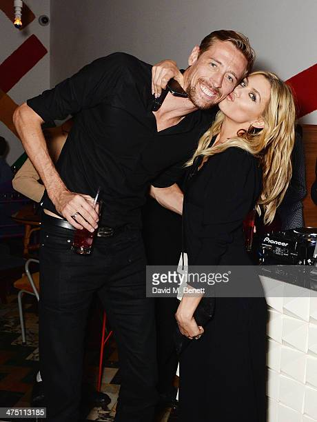 Peter Crouch and Abbey Clancy attend the after party for the NME Awards at Sketch on February 26 2014 in London England