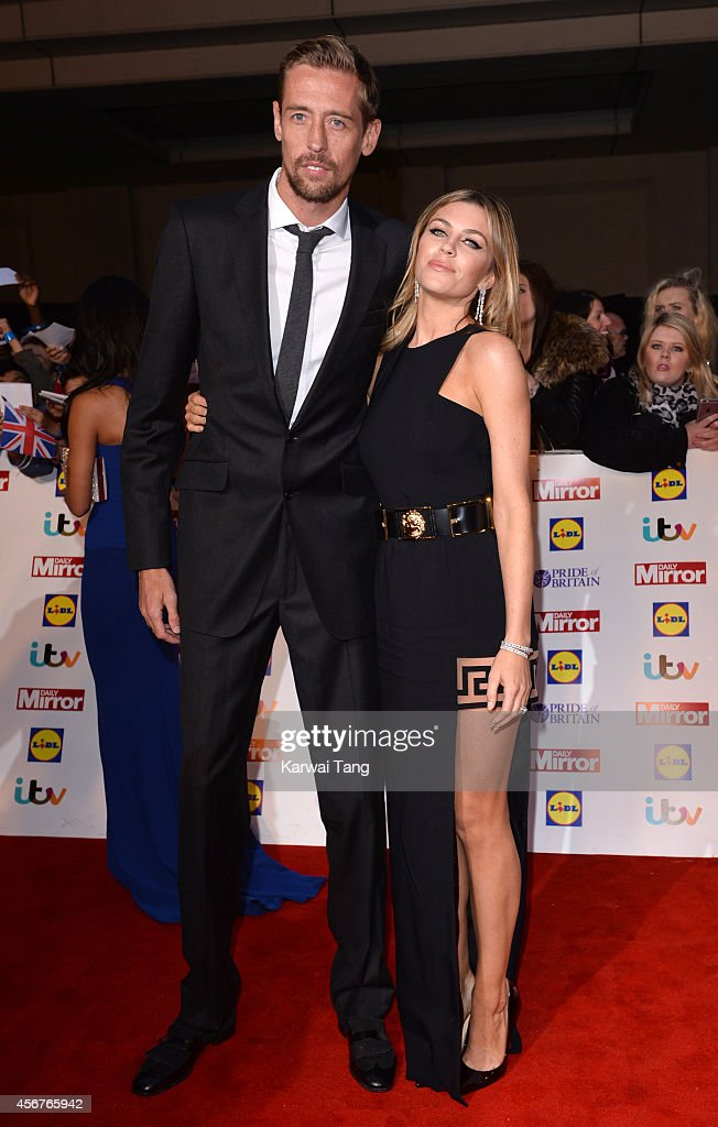 <a gi-track='captionPersonalityLinkClicked' href=/galleries/search?phrase=Peter+Crouch&family=editorial&specificpeople=210764 ng-click='$event.stopPropagation()'>Peter Crouch</a> and Abbey Clancy attend the Pride of Britain awards at The Grosvenor House Hotel on October 6, 2014 in London, England.
