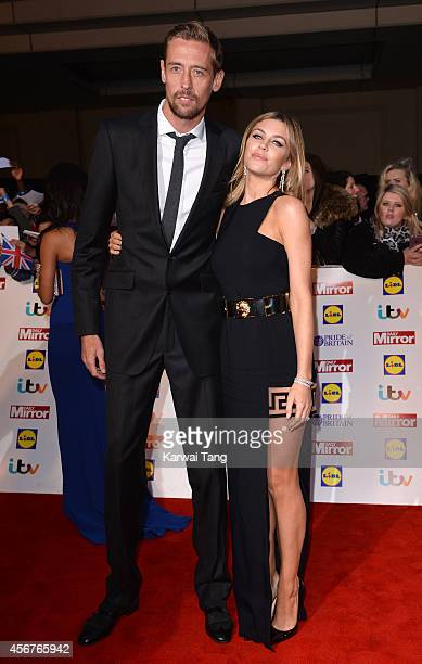 Peter Crouch and Abbey Clancy attend the Pride of Britain awards at The Grosvenor House Hotel on October 6 2014 in London England