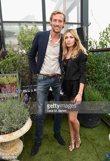 Peter Crouch and Abbey Clancy attends Warner Music Group Summer party in association with British GQ and Quintessentially on July 6 2016 in London...