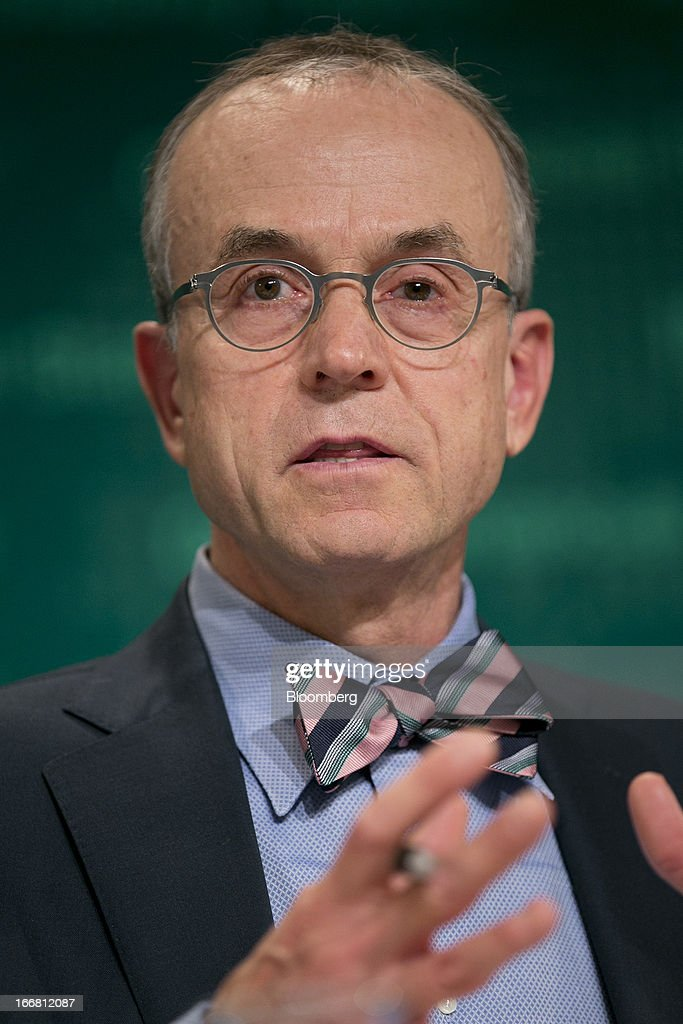 Peter Dattels, chief of global market monitoring with the International Monetary Fund (IMF), speaks at a global financial stability report news conference in Washington, D.C., U.S., on Wednesday, April 17, 2013. As much as 20 percent of non-bank corporate debt in the weakest euro-area economies is unsustainable and may force companies to cut dividends and sell assets, dealing further blows to investor confidence, the IMF said. Photographer: Andrew Harrer/Bloomberg via Getty Images