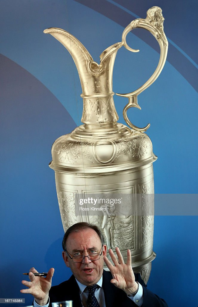 <a gi-track='captionPersonalityLinkClicked' href=/galleries/search?phrase=Peter+Dawson&family=editorial&specificpeople=240418 ng-click='$event.stopPropagation()'>Peter Dawson</a> the Chief Executive of the R&A during The Open Championship media day at Muirfield on April 29, 2013 in Gullane, Scotland.
