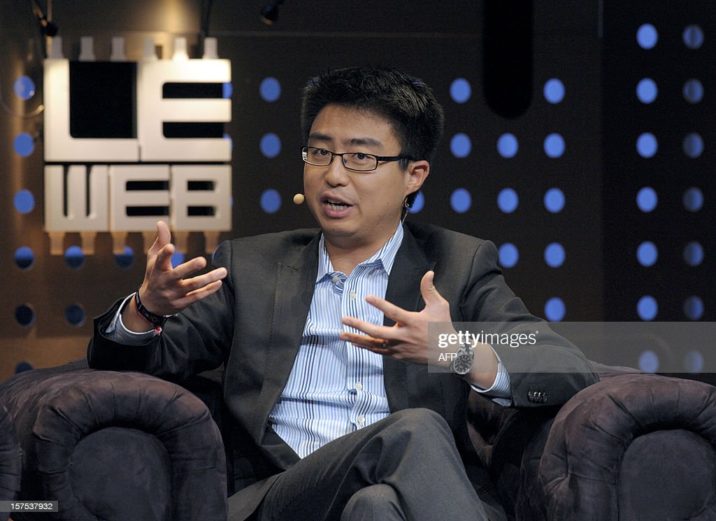 Peter Deng, Facebook Director of Product Management talks on December 4, 2012 during a session at LeWeb Paris 2012 in Saint-Denis near Paris.