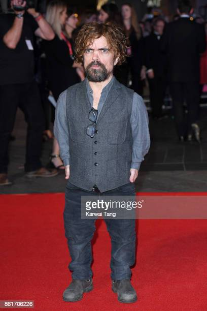 Peter Dinklage attends the UK Premiere of 'Three Billboards Outside Ebbing Missouri' during the closing night gala of the 61st BFI London Film...