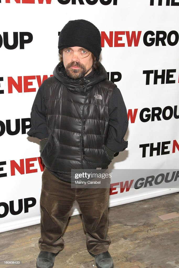<a gi-track='captionPersonalityLinkClicked' href=/galleries/search?phrase=Peter+Dinklage&family=editorial&specificpeople=215147 ng-click='$event.stopPropagation()'>Peter Dinklage</a> attends the World Premiere of 'Clive' at West Bank Cafe on February 7, 2013 in New York City.