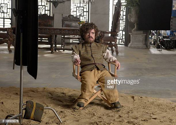 LIVE 'Peter Dinklage' Episode 1699 Pictured Peter Dinklage during the 'Game of Thrones Sneak Peak' sketch on April 2 2016