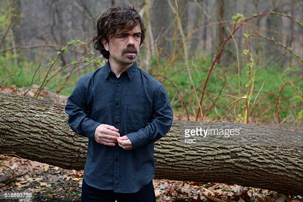 LIVE 'Peter Dinklage' Episode 1699 Pictured Peter Dinklage during the 'Naked and Afraid' sketch on April 2 2016
