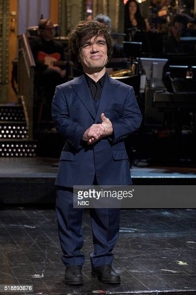 LIVE 'Peter Dinklage' Episode 1699 Pictured Peter Dinklage during the monologue on April 2 2016