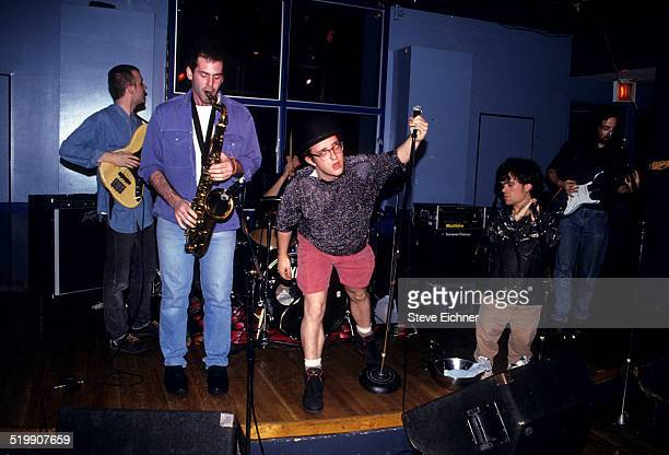 Peter Dinklage performs singing with Whizzy at Columbia University New York New York November 13 1993