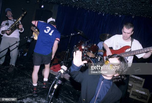 Peter Dinklage performs singing with Whizzy at Columbia University New York New York October 1 1994