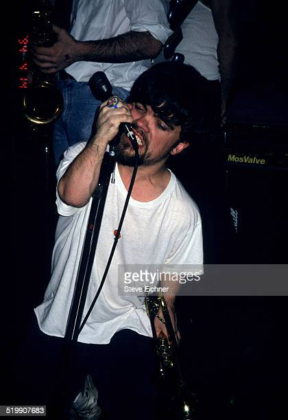 Peter Dinklage performs singing with Whizzy at Columbia University New York New York July 1 1994