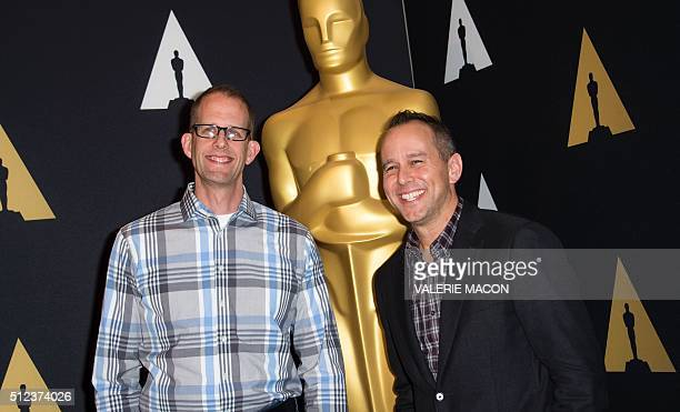 Peter Docter and Jonas Rivera nominated for 'Inside Out' attend the 88th Annual Academy Awards Oscar Week Celebrates Animated Features in Beverly...