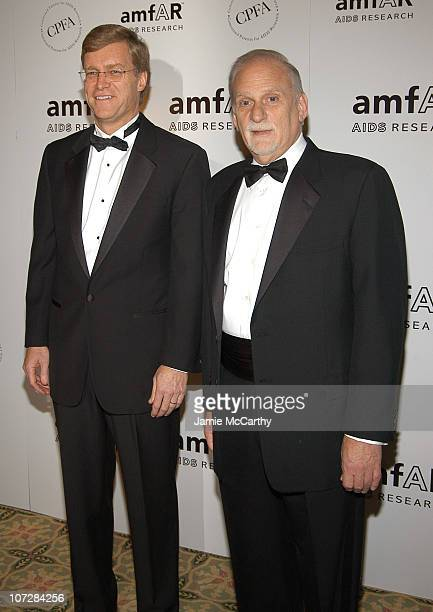 Peter Dolan chairman/CEO of BristolMyers Squibb and Jerry Radwin CEO amfAR at amfAR's New York Gala to Honor Patti LaBelle Sumner Redstone and Peter...