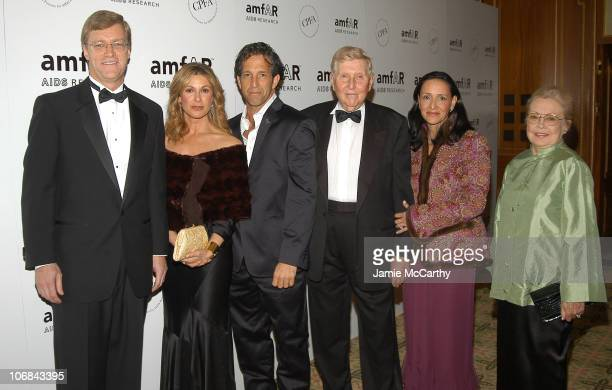 Peter Dolan chairman/CEO of BristolMyers Squibb Maria Cuomo Cole Kenneth Cole Sumner Redstone Paula Redstone and Dr Mathilde Krim chairman of amfAR...