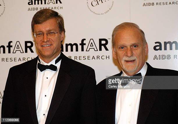 Peter Dolan honoree chairman and CEO of BristolMyers Squibb Company and Jerry Radwin CEO amfAR