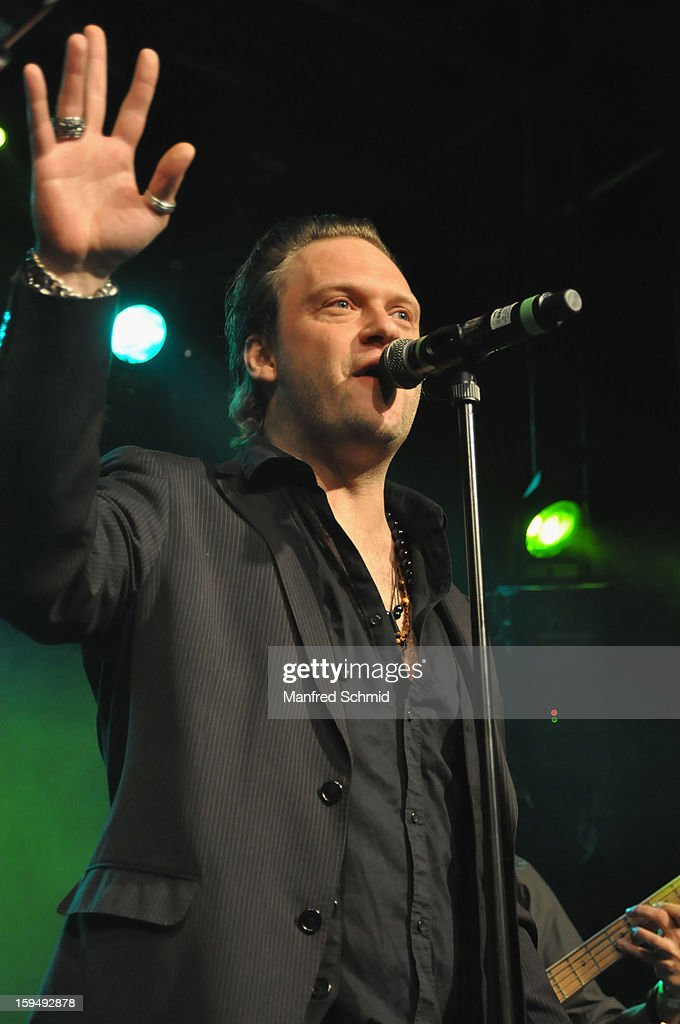 Peter Duerr performs onstage during the 'Hallucination Company plays Hansi Lang Concert' at Szene Wien on January 13, 2013 in Vienna, Austria.