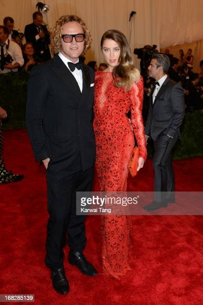 Peter Dundas and Amber Heard attend the Costume Institute Gala for the 'PUNK Chaos to Couture' exhibition at the Metropolitan Museum of Art on May 6...
