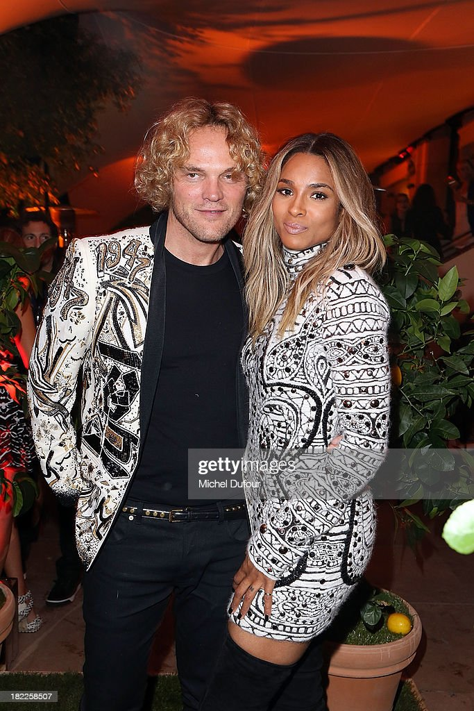 Peter Dundas and Ciara Princess Harris attend The Pucci Dinner Party At Monsieur Bleu In Paris on September 28, 2013 in Paris, France.