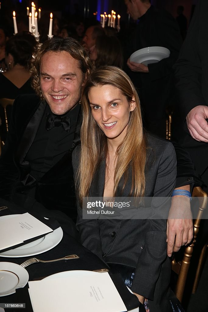 Peter Dundas and Gaia Repossi attend the Babeth Djian Hosts Dinner For Rwanda To The Benefit Of A.E.M. on December 6, 2012 in Paris, France.