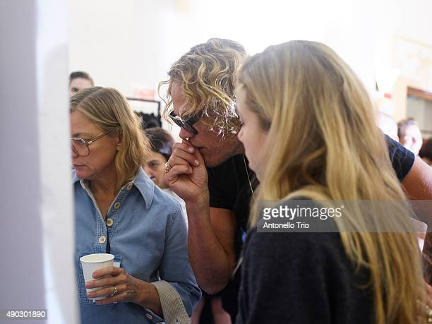 Peter Dundas is seen backstage ahead of the Roberto Cavalli show during Milan Fashion Week Spring/Summer 2016 on September 26 2015 in Milan Italy