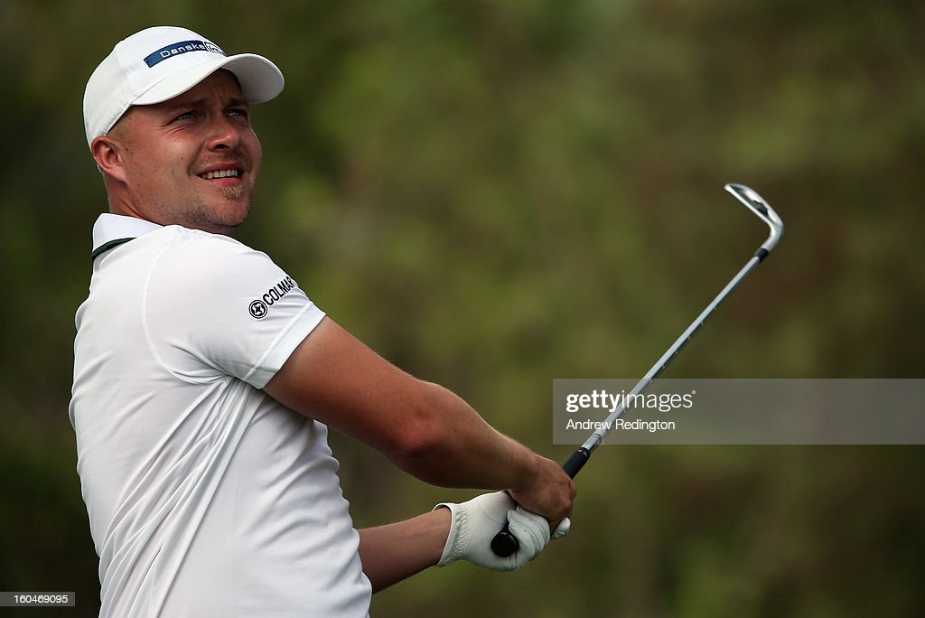 Peter Erofejeff of Finland in action during the second round of the Omega Dubai Desert Classic at Emirates Golf Club on February 1, 2013 in Dubai, United Arab Emirates.