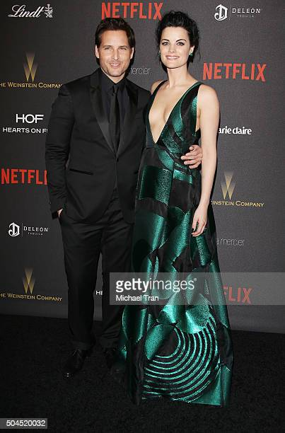 Peter Facinelli and Jaimie Alexander arrive at the 2016 Weinstein Company and Netflix Golden Globes afterparty held on January 10 2016 in Los Angeles...