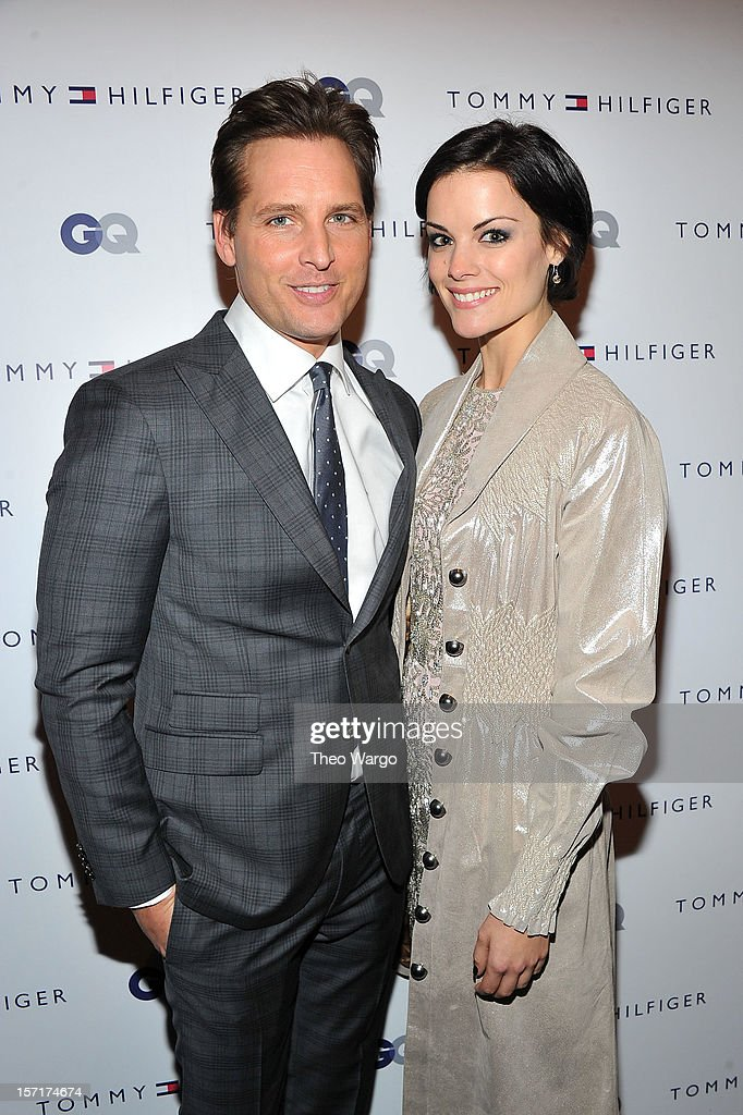 Peter Facinelli and Jaimie Alexander attend the Tommy Hilfiger GQ celebrate Men of New York at the 5th Avenue Flagship on November 29 2012 in New...