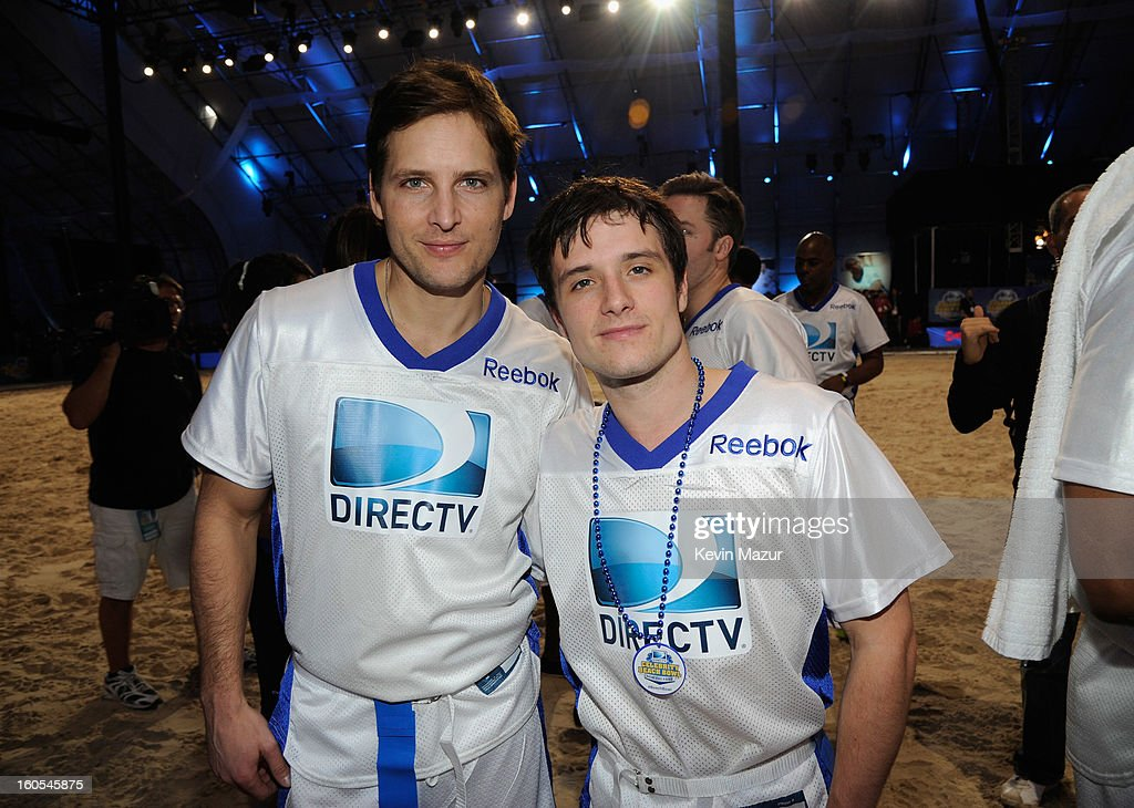 Peter Facinelli and Josh Hutcherson attend DIRECTV'S 7th annual celebrity Beach Bowl at DTV SuperFan Stadium at Mardi Gras World on February 2, 2013 in New Orleans, Louisiana.