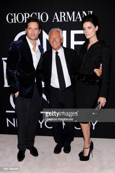 Peter Facinelli Giorgio Armani and Jaimie Alexander attend Giorgio Armani One Night Only NYC at SuperPier on October 24 2013 in New York City