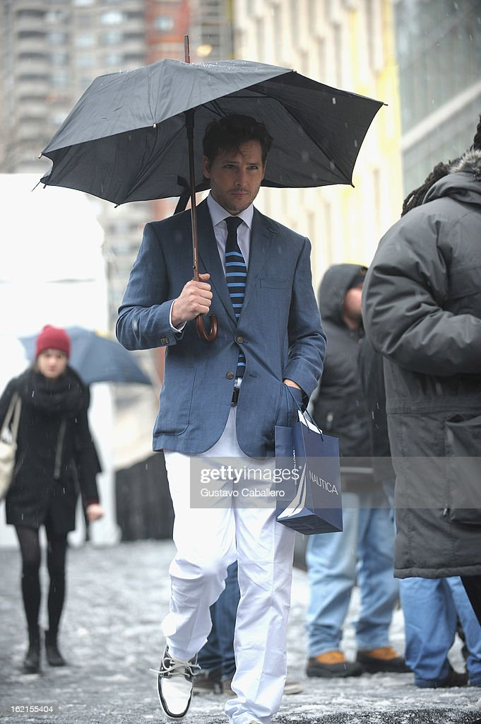 <a gi-track='captionPersonalityLinkClicked' href=/galleries/search?phrase=Peter+Facinelli&family=editorial&specificpeople=233464 ng-click='$event.stopPropagation()'>Peter Facinelli</a> is seen during Fall 2013 Mercedes-Benz Fashion Week at Lincoln Center for the Performing Arts on February 8, 2013 in New York City.
