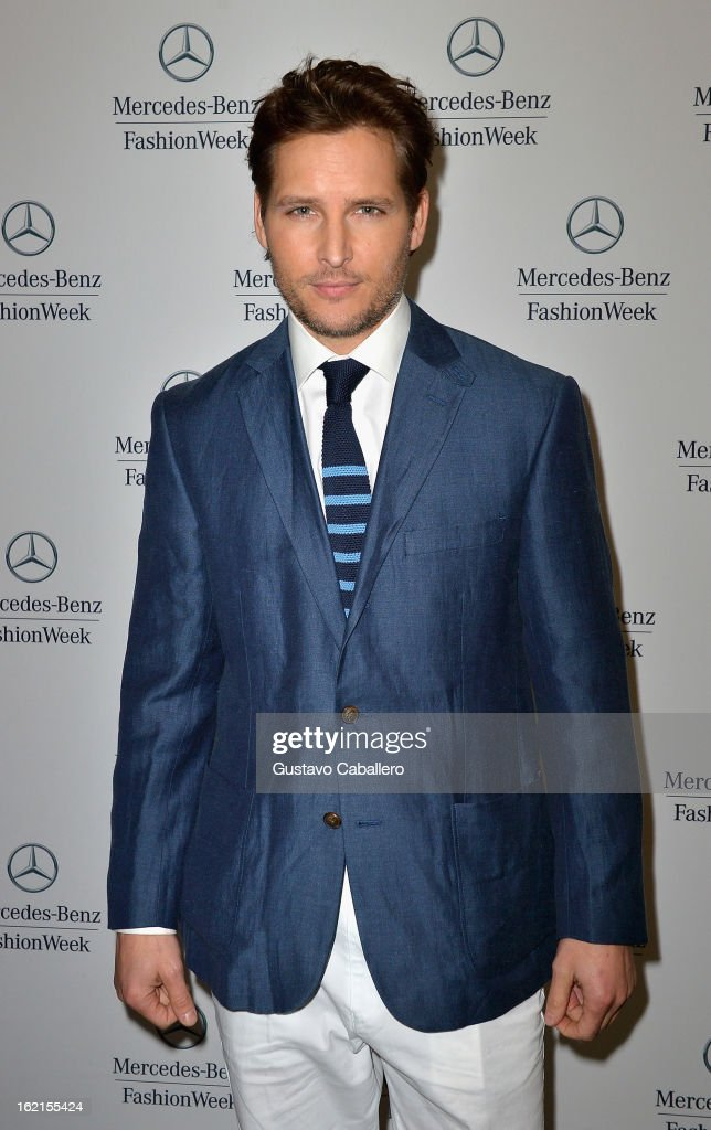 Peter Facinelli is seen during Fall 2013 Mercedes-Benz Fashion Week at Lincoln Center for the Performing Arts on February 8, 2013 in New York City.