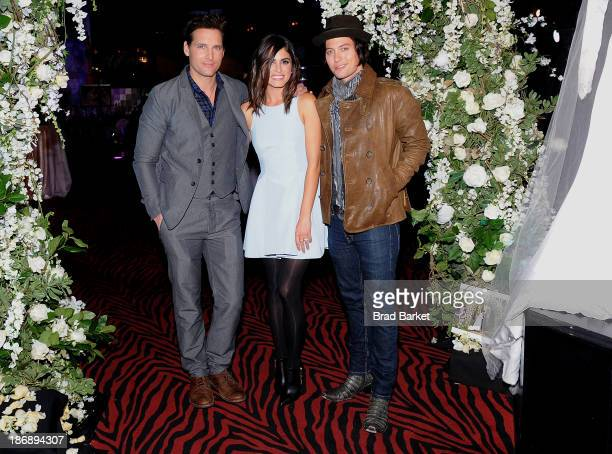 Peter Facinelli Nikki Reed and Jackson Rathbone attend the Twilight Forever Fan Experience Exhibit launch at Planet Hollywood Times Square on...