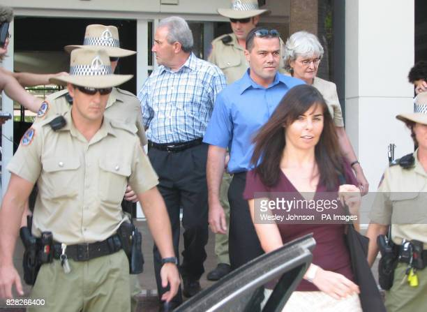 Peter Falconio's father Luciano brother Nick mother Joan and Joanne Lees leave the Northern Territory Supreme Court in Darwin Thursday December 15...
