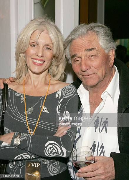 Peter Falk and his wife Shera Danese *Exclusive Coverage*
