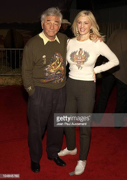 Peter Falk and Shera Danese during 'Dreamkeeper' ABC AllStar Winter Party at Quixote Studios in Los Angeles California United States