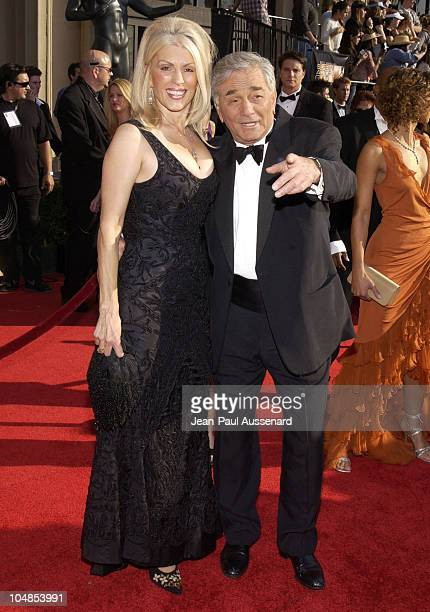 Peter Falk and wife during 9th Annual Screen Actors Guild Awards Arrivals at Shrine Exposition Center in Los Angeles California United States